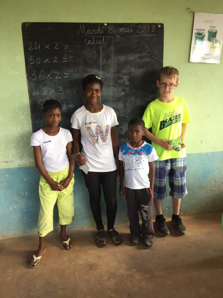 With Avotra, faniriana and faly, our wards since their mother left them two years ago